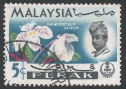 Perak (Malaysia). 1965-68 Orchids. 5c Used. SG 165 - Malaysia (1964-...)