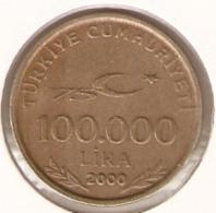 4-turk100000-00. Moneda Turkia Circulada. 100000 Liras 2000. BC - Turquia