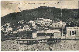 St Thomas D.W.I. Frenchmann's Hill Showing East Asiatic Co's Wharf To Croiseur Ecole Duguay Trouin - Vierges (Iles), Amér.