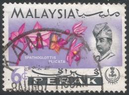 Perak (Malaysia). 1965-68 Orchids. 6c Used. SG 166 - Malaysia (1964-...)