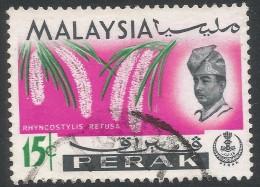 Perak (Malaysia). 1965-68 Orchids. 15c Used. SG 168 - Malaysia (1964-...)