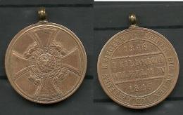 Hohenzollern Denkmünze Für Kämpfer 1848–1849 - Souvenirmunten (elongated Coins)