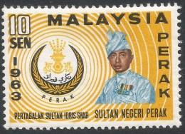 Perak (Malaysia). 1963 Installation Of The Sultan Of Perak. 10c MH. SG 162 - Perak