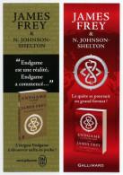 James Frey - Endgame - La Clé Du Ciel - L'appel - Marque-page éditions Gallimard Et J'ai Lu - Marque-Pages