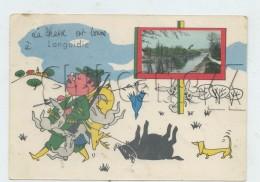 Languidic (56) : Perspective Du Canal  Avec Illustration Chasseur En 1978 (animée) GF. - Sonstige Gemeinden