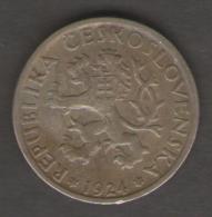 CECOSLOVACCHIA 1 CORONA 1924 - Cecoslovacchia