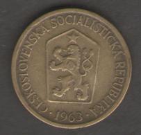 CECOSLOVACCHIA 1 CORONA 1963 - Cecoslovacchia