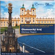 CZECH REPUBLIC KMS OFFICIAL MINT SET OLOMOUS 6 COINS: 1 - 50 KORUN BIMETAL 2016 - Czech Republic