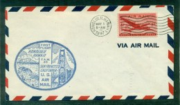 1er Vol Honolulu/ San Francisco Mai 1947 Sur Enveloppe Illustrée - Poste Aérienne