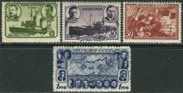 "USSR 1940. SC#636/39 VF/MNH. Polar Drift Of The Icebreaker ""Georgy Sedov"". (B-13) - 1923-1991 USSR"