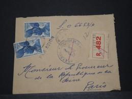 AOF - Env Recommandée De Justice De Conakry (Guinée) Pour Paris - 1955 - A Voir - P17822