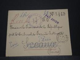 AOF - Env Recommandée De Justice Avec Griffe Par Avion De Conakry (Guinée) Pour Paris - Mai 1953 - A Voir - P17823