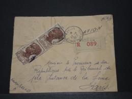 AOF - Env Recommandée De Justice Avec Griffe Par Avion De Kankan (Guinée) Pour Paris - Avril 1953 - A Voir - P17824