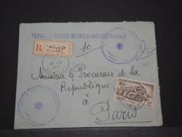AOF - Env Recommandée De Justice De Kaolack (Sénégal) Pour Paris - Dec 1953 - A Voir - P17825