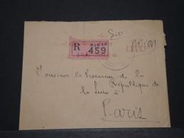 SENEGAL - Env Recommandée De Justice De Dakar Pour Paris - Juin 1952 - A Voir - P17826 - Sénégal (1887-1944)