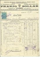 CROATIA, ZAGREB  --   FRANJO  SOLLAR   --   FACTURA, INVOICE   --   WITH TAX STAMP  -- 1926 - Fatture & Documenti Commerciali