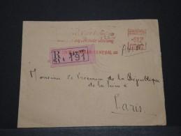 SENEGAL - Env Recommandée De Justice De Dakar Pour Paris Avec Affr. Mécanique - Juin 1952 - A Voir - P17828 - Sénégal (1887-1944)