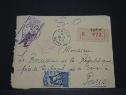 SENEGAL AOF - Env De Thies Pour Paris - Juil 1953 - A Voir - P17829 - Sénégal (1887-1944)