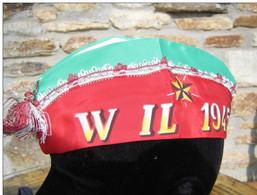 Bustina Tricolore Da Coscritto E.I. Classe 1945 Originale D'epoca - Casques & Coiffures