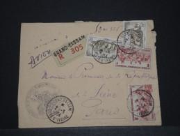 COTE D´IVOIRE AOF - Env Recommandée De Grand Bassam Pour Paris - Mars 1953 - A Voir - P17831 - Ivory Coast (1892-1944)