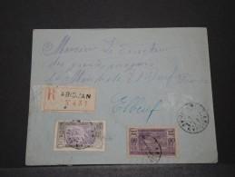 COTE D´IVOIRE AOF - Env Recomandée D'Abidjan Pour Paris - 1925 - A Voir - P17833 - Côte-d'Ivoire (1892-1944)