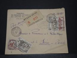 COTE D´IVOIRE AOF - Env Recomandée De Grand Bassam Pour Paris - Dec 1953 - A Voir - P17835 - Côte-d'Ivoire (1892-1944)