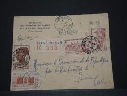 COTE D´IVOIRE AOF - Env Reco De Grand Bassam Pour Paris Avec Cachet De La 5e Conf Inter Des Africanistes - 1953 - P17836 - Côte-d'Ivoire (1892-1944)