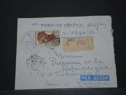 COTE D´IVOIRE AOF - Env Reco D'Abidjan Pour Paris - Mars 1954 - P17837 - Côte-d'Ivoire (1892-1944)