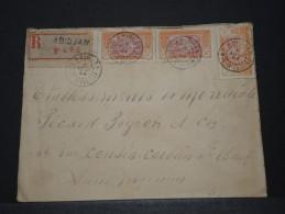 COTE D´IVOIRE AOF - Env Recommandée D´Abidjan Pour La France - Août 1924 - P17838 - Côte-d'Ivoire (1892-1944)