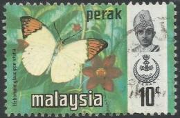 Perak (Malaysia). 1971 Butterflies. 10c Used. SG 176 - Malaysia (1964-...)