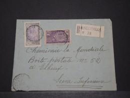 COTE D´IVOIRE AOF - Env Recommandée De Bingerville Pour La France - Sept 1924 - P17842 - Côte-d'Ivoire (1892-1944)