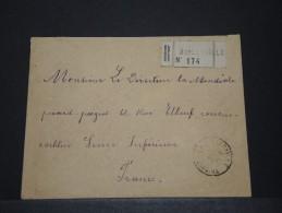 COTE D´IVOIRE AOF - Env Recommandée De Bingerville Pour La France - Sept 1924 - P17843 - Côte-d'Ivoire (1892-1944)