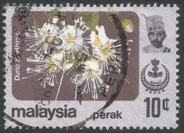 Perak (Malaysia). 1979 Flowers. 10c Used. SG 187 - Malaysia (1964-...)