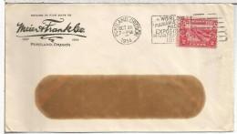 USA CC 1914 PORTLAND MAT PANAMA PACIFIC EXPOSITION SELLO PERFORADO PERFIN MEIER & FRANK CO - Briefe U. Dokumente