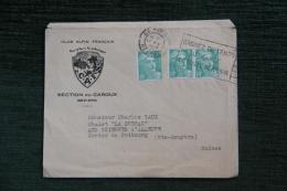 Enveloppe Publicitaire , BEZIERS, CLUB ALPIN FRANCAIS, Section Du CAROUX - Lettres & Documents