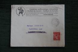 Enveloppe Publicitaire, BEZIERS, SINFRA, Société Industrielle Et Financière , Villa Hélios, Bld De Genève , Lettre E - Lettres & Documents