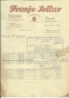 CROATIA, ZAGREB  --   FRANJO  SOLLAR  ,,  K SREBRNOJ LOPATI  ,,   --   FACTURA, INVOICE   --   WITH TAX STAMP  -- 1929 - Facturas & Documentos Mercantiles