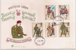 England FDC 1983 - The Parachute Regiment - British Army - Military - Régiment Parachutistes - Regimento Paraquedistas - FDC