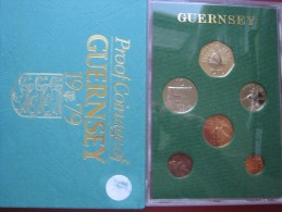 Guernsey 1979 6 Coin Set  Collection Proof  1- 50 Pence By Royal Mint - Guernsey