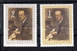 PORTUGAL.1969.  CENTENÁRIO DE VIANNA DA MOTTA AFINSA Nº 1053/1054  NOVOS SEM CHARNEIRA.SES298GRANDE - 1910-... República