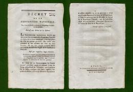D-FR Révolution 1794 Décret Relatif Aux Arbres De La Liberté - Documents Historiques