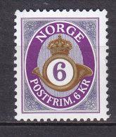 Norway 2001 Mi. 1382    6 Kr Posthorn MNG - Norwegen