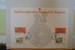 Carte Souvenir 2006 - Timbre 3563 Et 3564 - Belgique Danmark - Cartas Commemorativas
