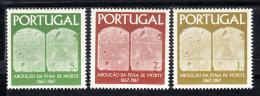 PORTUGAL.1967.CENTENÁRIO ABOLIÇÂO PENA DE MORTE .AFINSA Nº 1017/1019   NOVOS SEM CHARNEIRA.SES299GRANDE - Ongebruikt