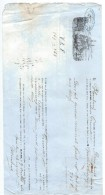 Connaissement Maritime/Transport De Marchandises/Capitaine FLAMBARD/Navire Deux Fréres/Havre/Granville/1860 MAR1 - Transports