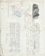 Connaissement Maritime/Transport De Morues/Capt Hubert/Navire Impératrice/Pont à Pont /Saint PierreMiquelon/1864 MAR3 - Transporte
