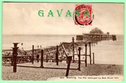 WORTHING - The LPier Destroyed By Gale March 1913 - Worthing