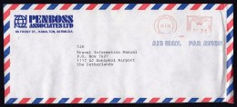 Bermuda: Airmail Cover To Netherlands, 1986, Red Meter Cancel (crease) - Bermuda