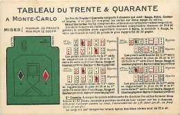 - Depts Divers - FF524 - Monaco -  Monte Carlo -  Tableau Du Trente & Quarante - Jeu - Jeux - Casino - Casinos - - Monte-Carlo