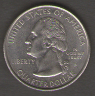 STATI UNITI QUARTER DOLLAR 1999 CONNECTICUT - Emissioni Federali